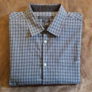 John Varvatos Luxe Long Sleeve Plaid Shirt